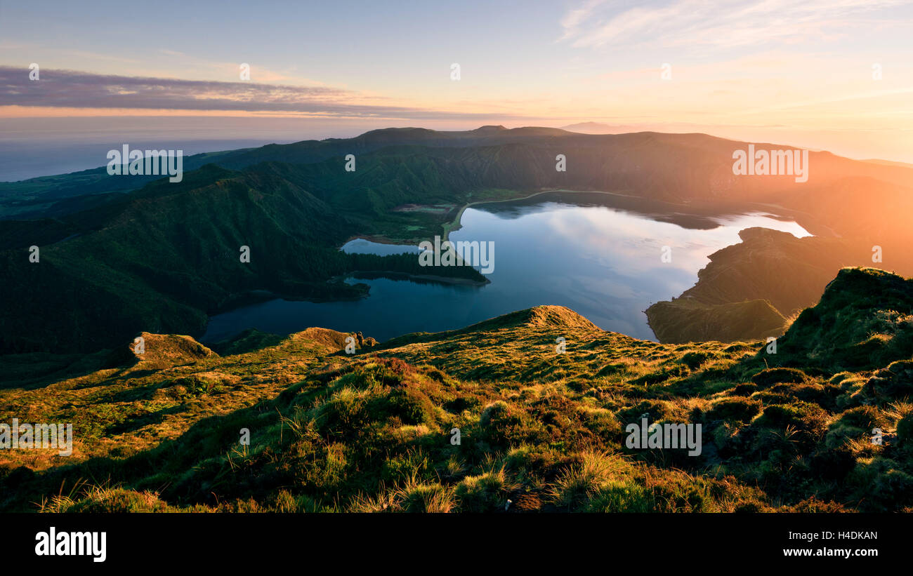Lagoa Fogo on Sao Miguel, the Azores, Portugal - Stock Image