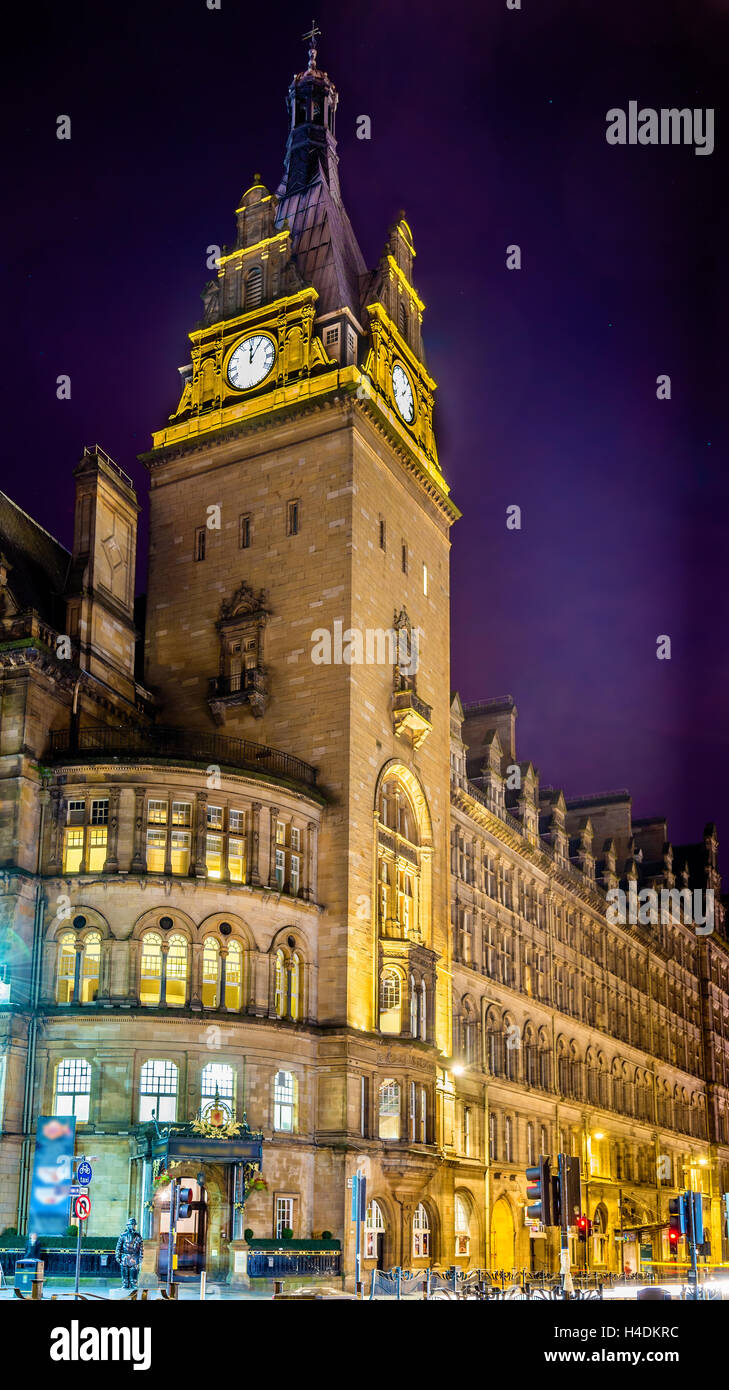 The Grand Central Hotel, a historic building in Glasgow, Scotland - Stock Image