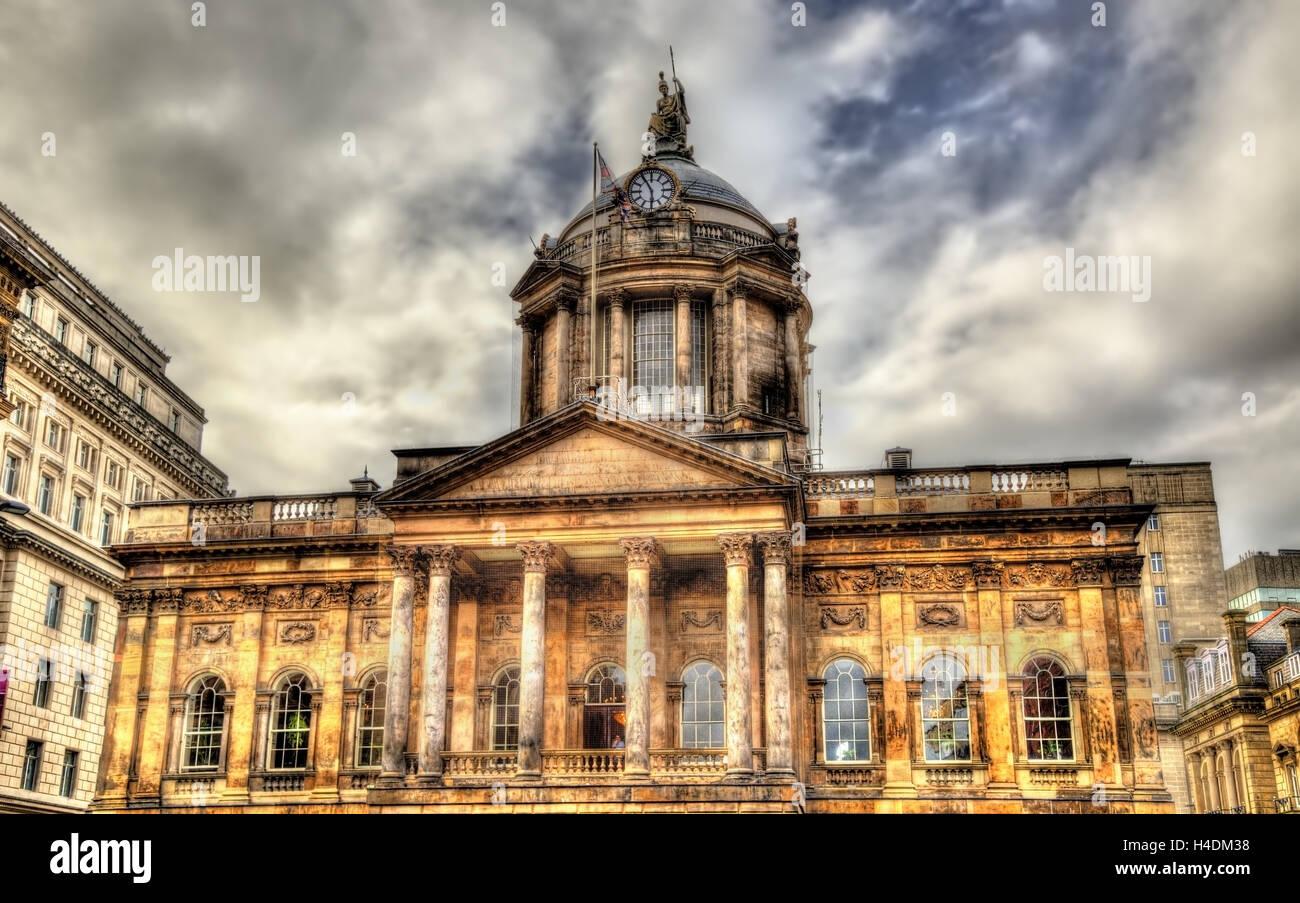 Town Hall of Liverpool - England, UK Stock Photo