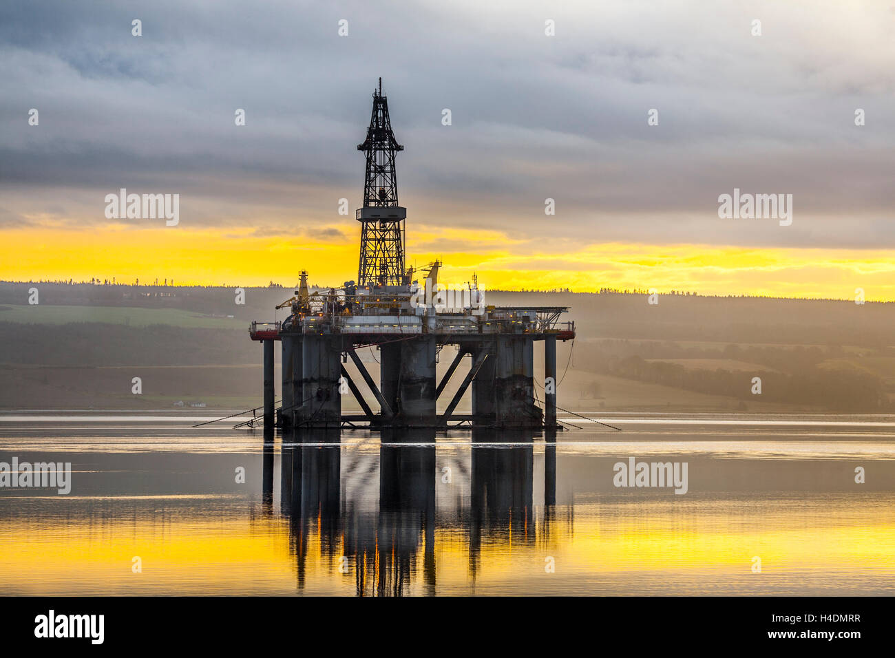 GSF ARCTIC II, Oil Rig in Cromarty Firth, in the port of Invergordon, Scotland - Stock Image