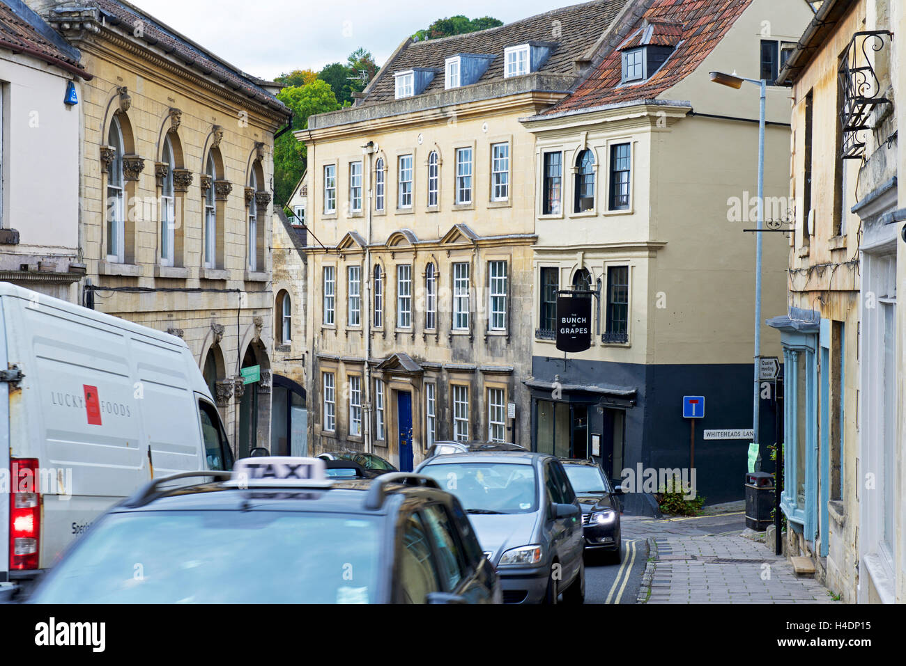Traffic congestion in Bradford-on-Avon, Wiltshire, England UK - Stock Image