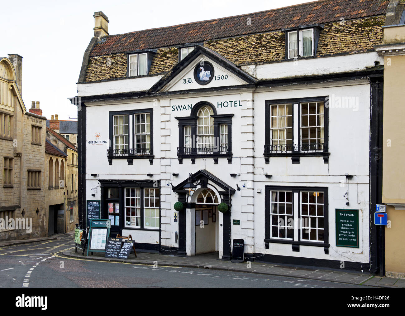 The Swan Hotel, Bradford-on-Avon, Wiltshire, England UK - Stock Image