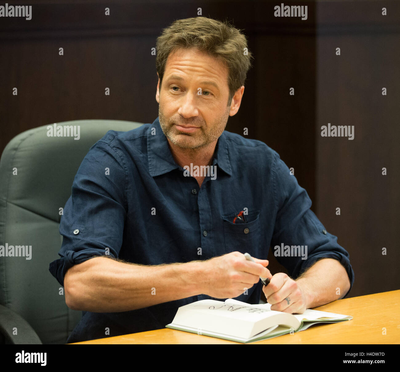David Duchovny Attends A Signing For His Book Bucky F Cking Dent