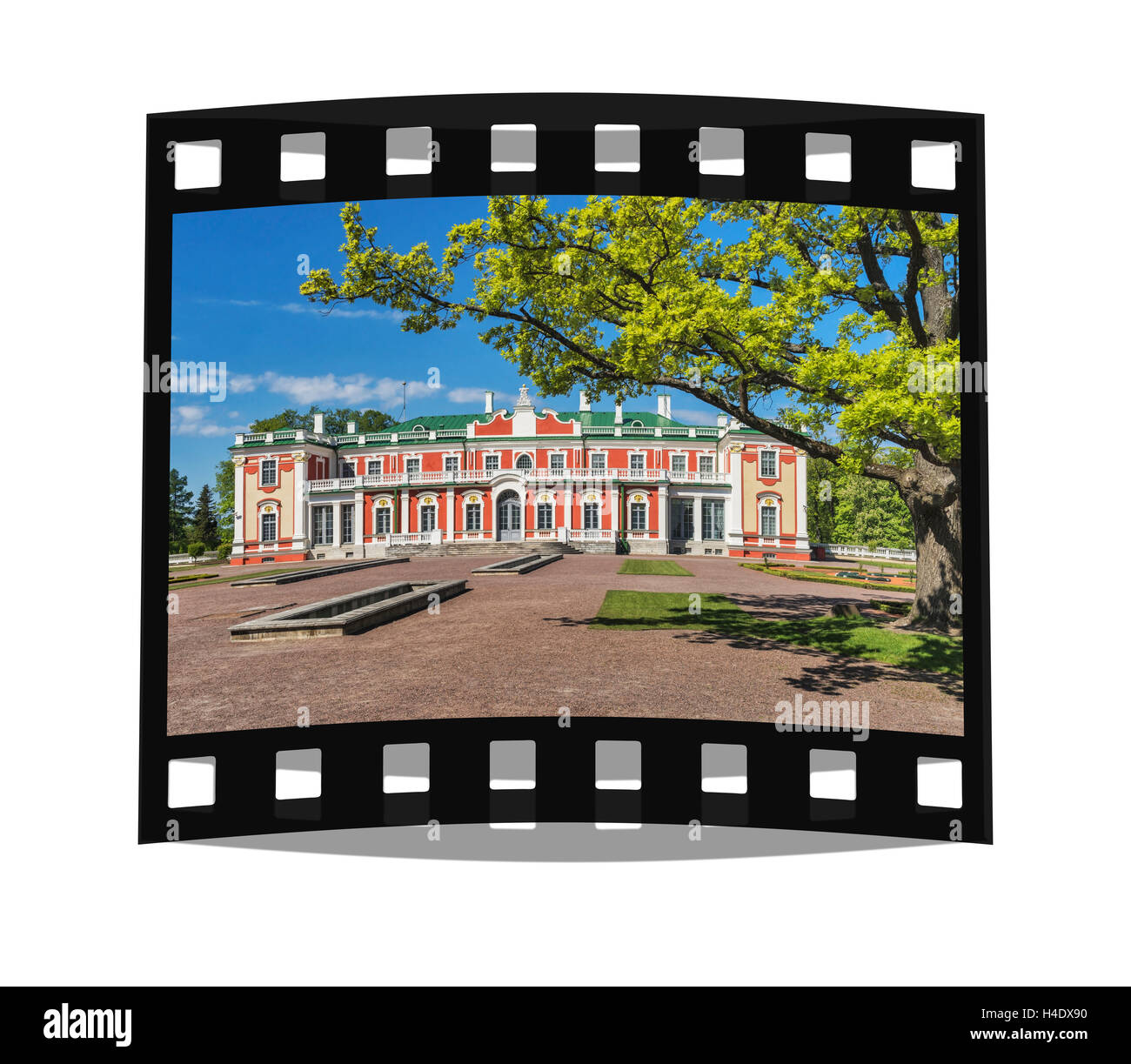 Kadriorg Palace was built between 1718 and 1725 in the Petrine Baroque style, Tallinn, Estonia, Baltic States, Europe - Stock Image