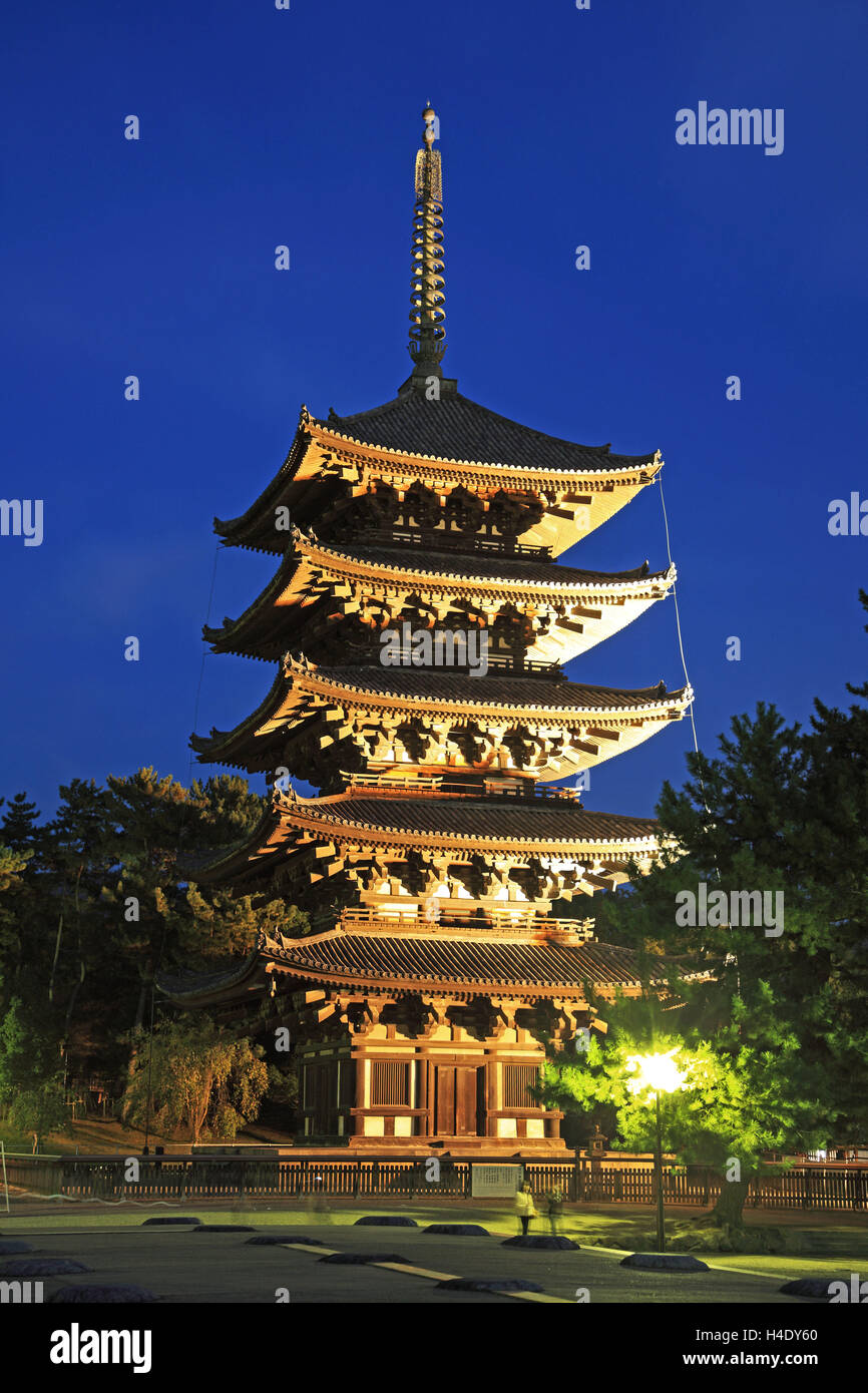 Japan, Nara, Kofukuji Temple, UNESCO World Heritage, the Pagoda - Stock Image