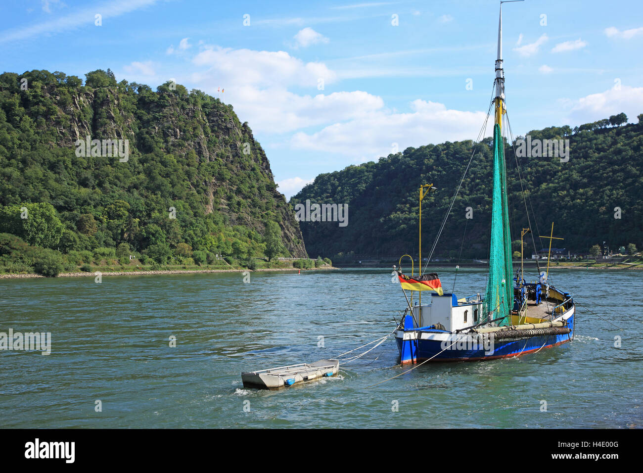 Germany, Upper Middle Rhine Valley, Loreley, UNSCO World Heritage Stock Photo