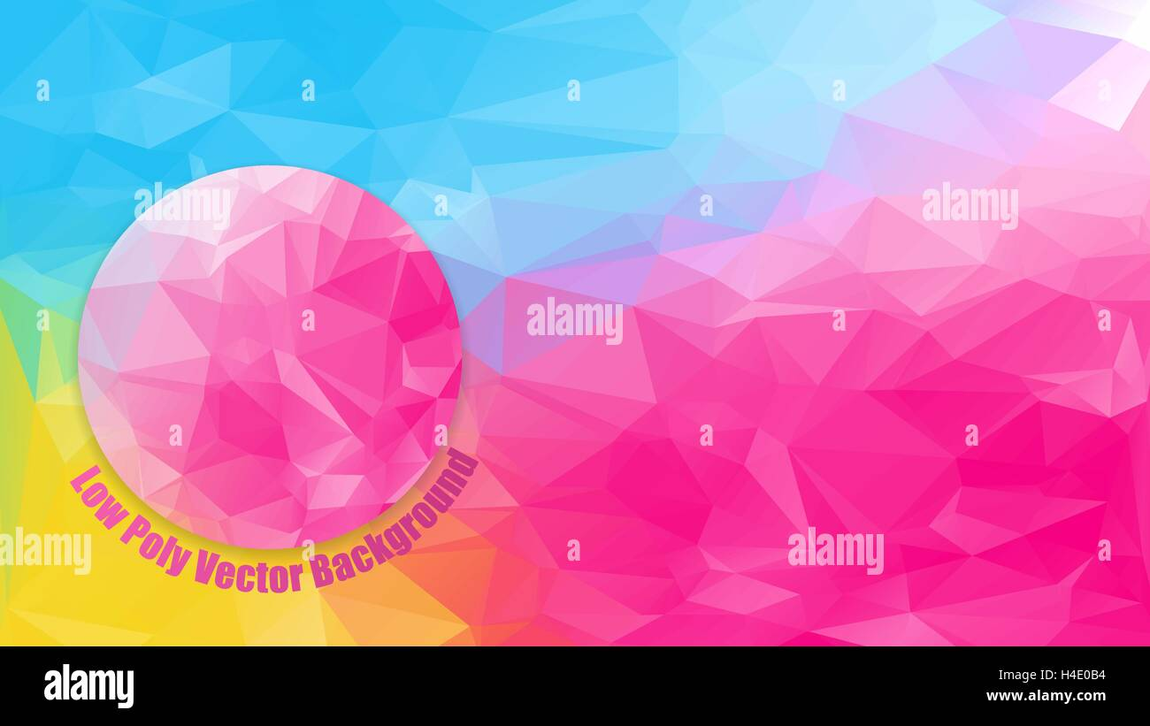 low polygonal bright color horizontal 1920x1080 hd size format stock