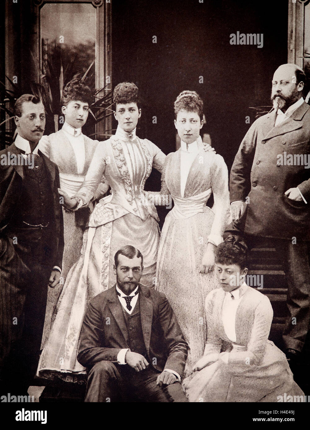 The Royal Family in 1898: From Left-Right: Prince Albert Victor - Duke of  Clarence; Princess Maud; Princess Victoria Mary - Princess of Wales; Prince  George ...