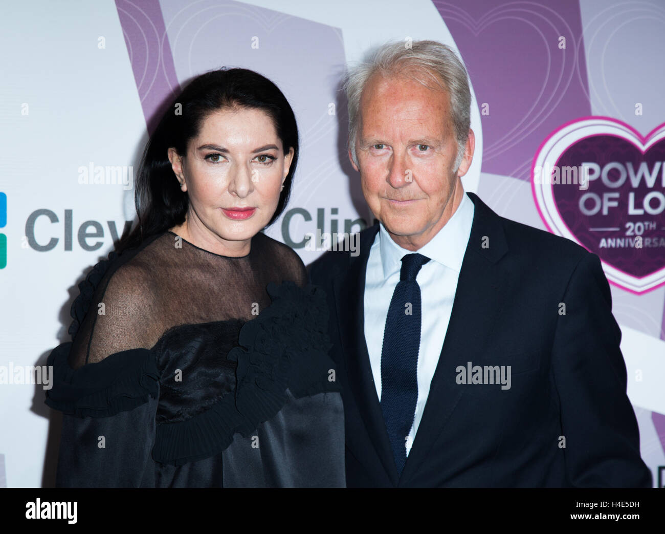 Marina Abramovic and Petter Skavlan attend Memory Alive's 20th Annual Power of Love Gala at MGM Grand Garden Arena - Stock Image