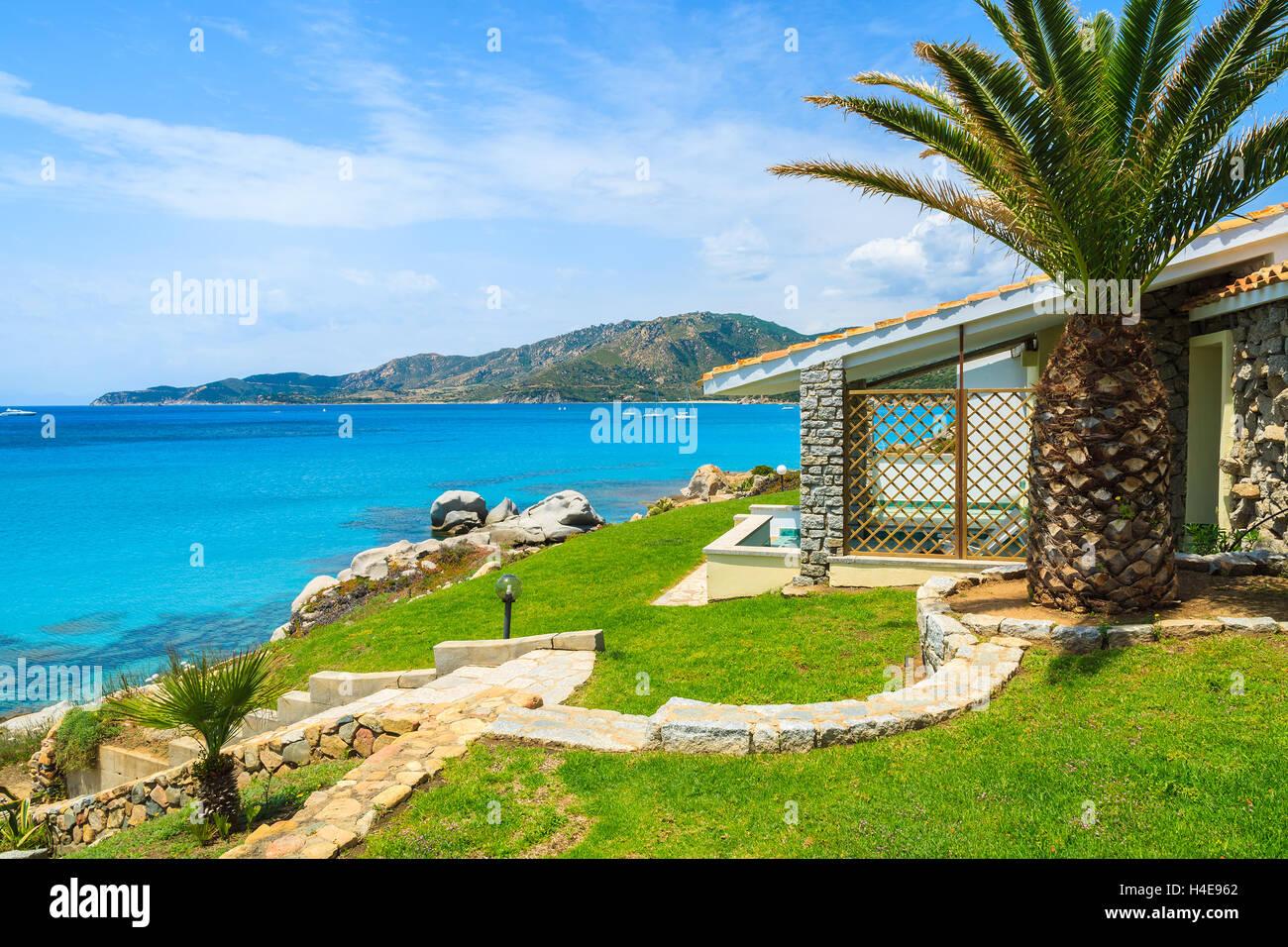 Beautiful holiday villa house on coast of Sardinia island   view ...