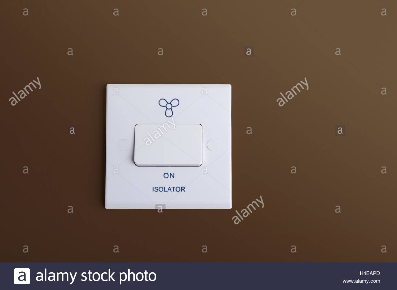Isolator Stock Photos Images Alamy 4 Way Switch Extractor Fan Mounted On Interior Wall Copy Space Image