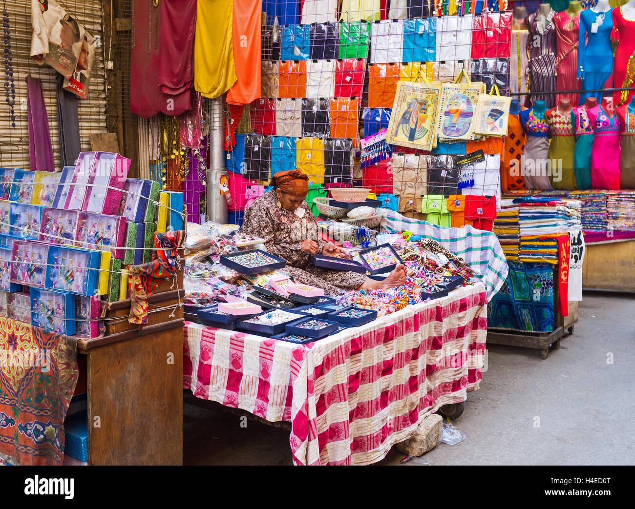 The Khan El-Khalili souq (market) offers goods on each taste and