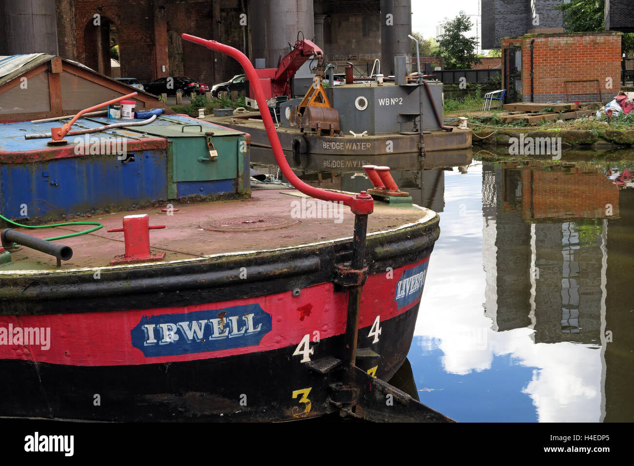 The Irwell Leeds & Liverpool Canal Shortboat Irwell at Castlefields, ,Manchester,England,UK - Stock Image