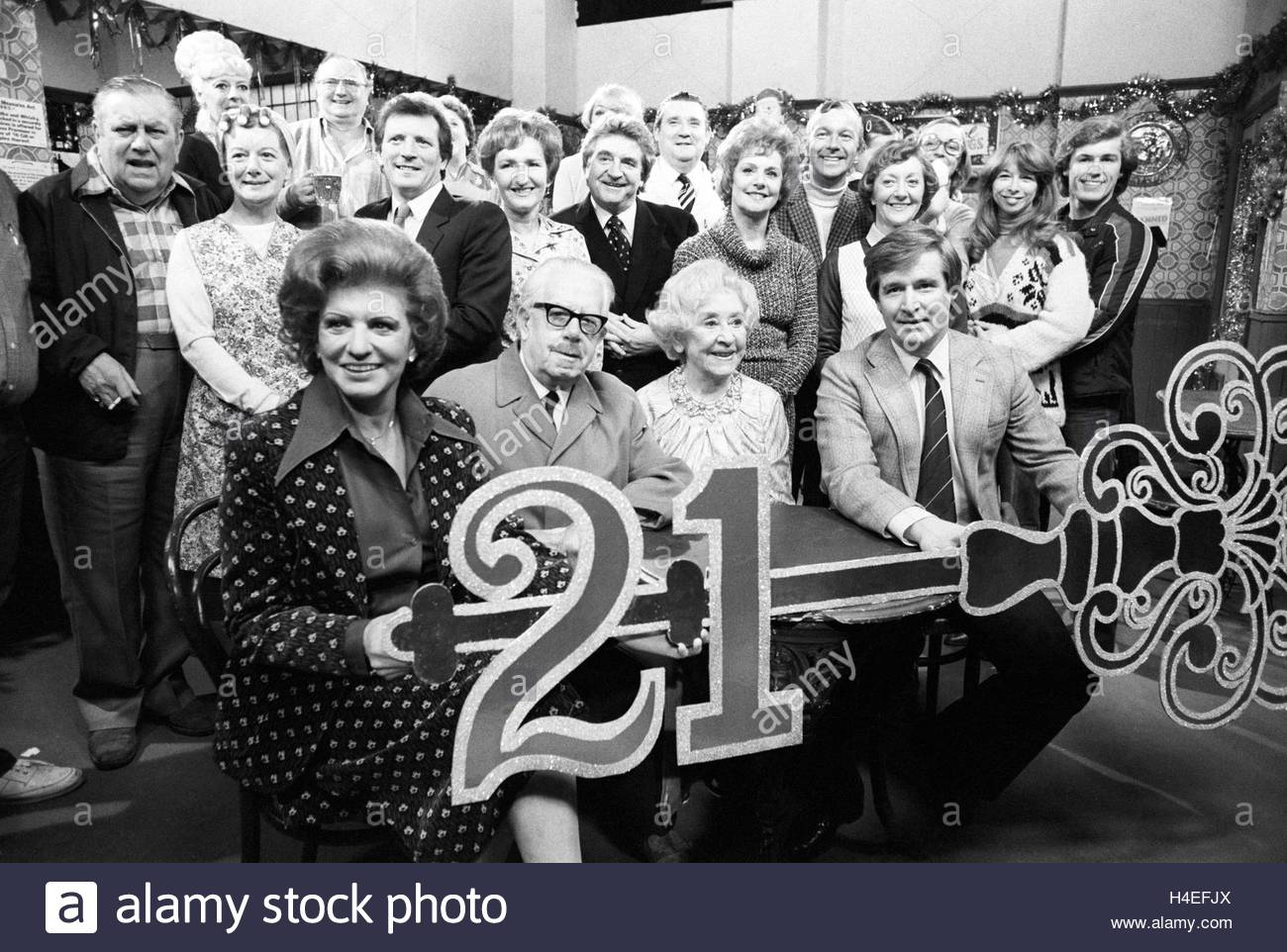 File photo dated 03/12/81 of a giant 21st birthday key for the cast of Coronation Street, celebrating the soap opera's - Stock Image