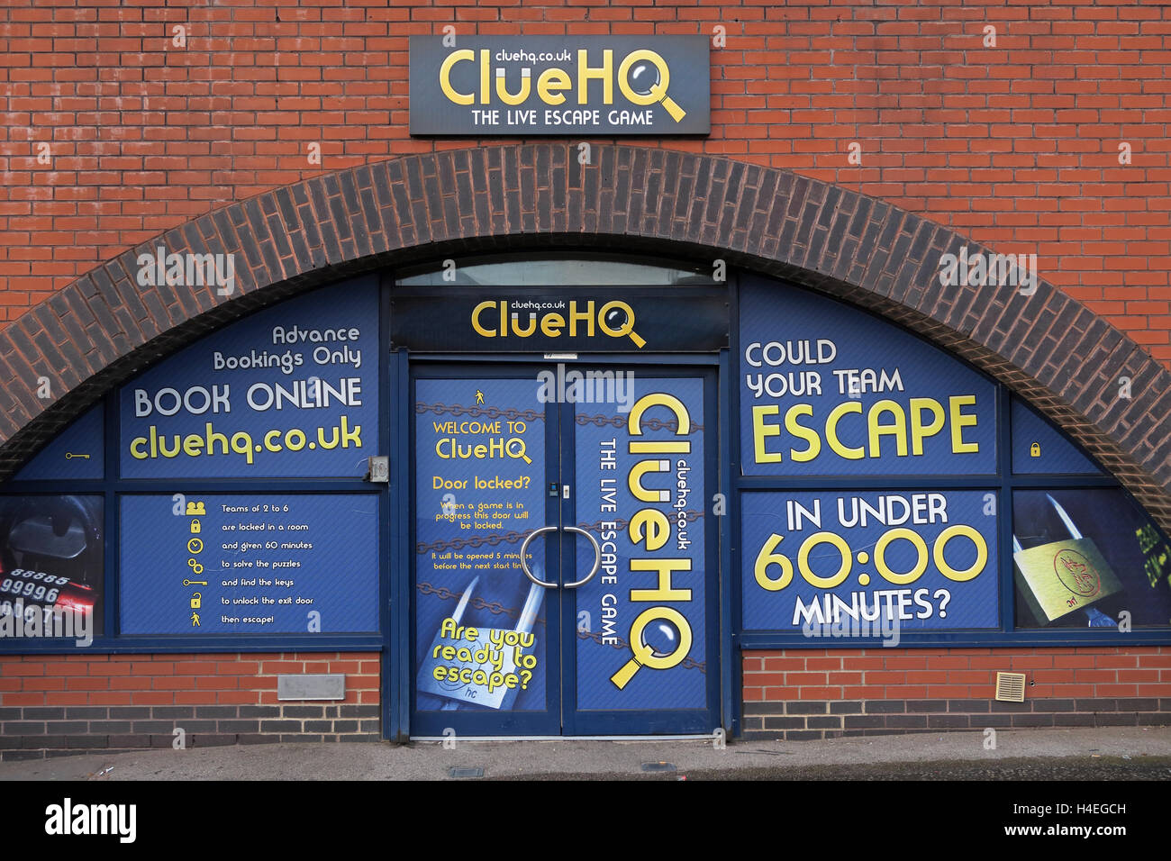 ClueHQ,The Live Escape Game,Warrington,Cheshire, England - Stock Image