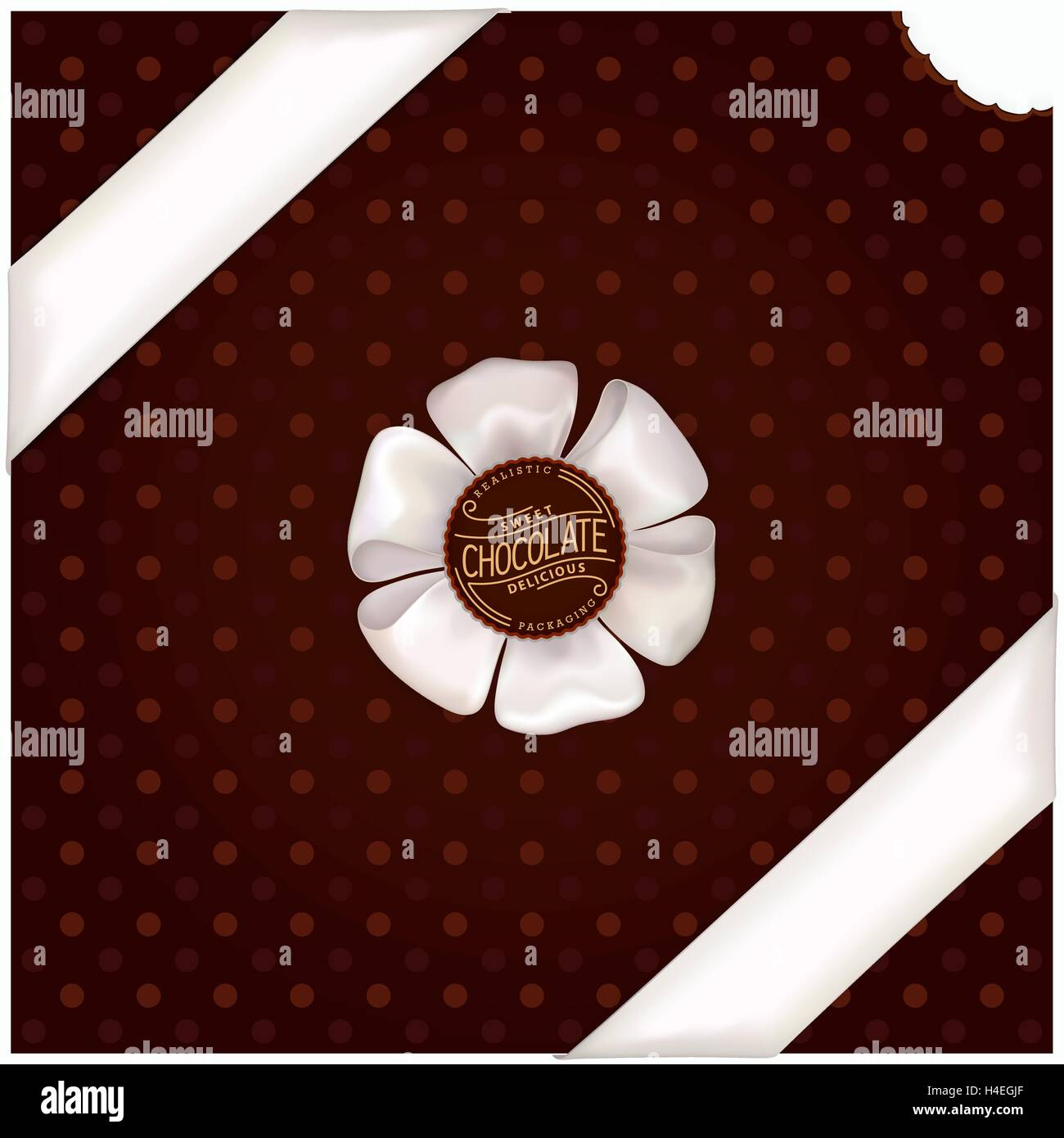 Chocolate wrapping design - Stock Vector