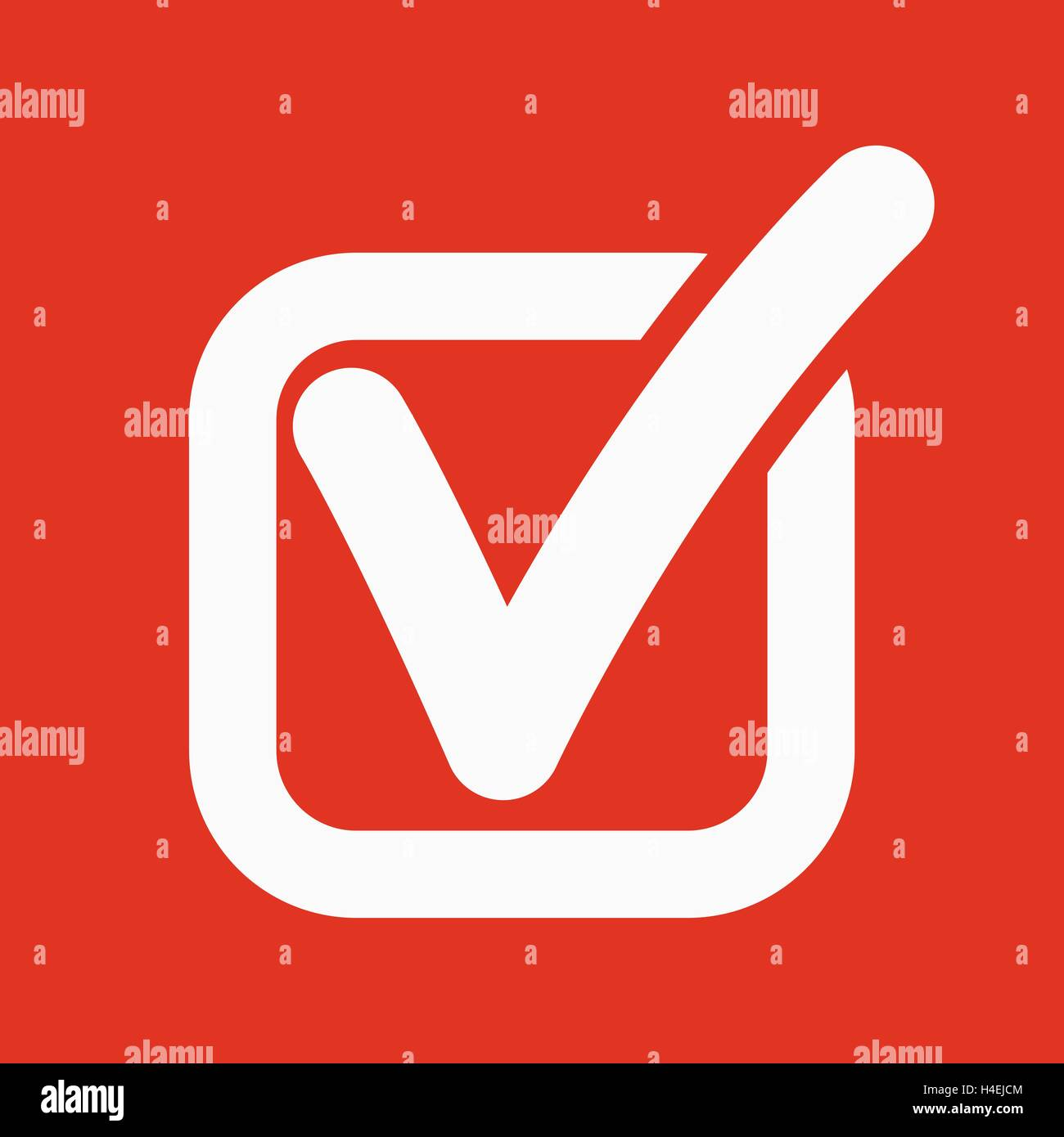 The check icon  Checkmark and checkbox, yes, voting symbol