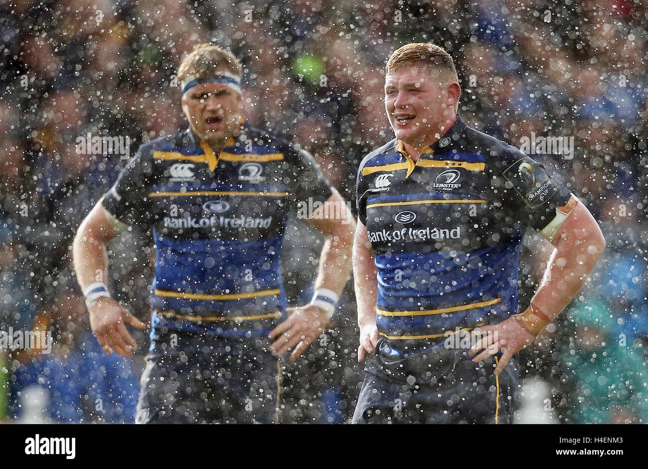 e9fc398dbdc (left-right) Leinster's Jamie Heaslip and Fadhg Furlong during a heavy down  pour during the European Champions Cup, pool four match at the RDS Arena,  ...