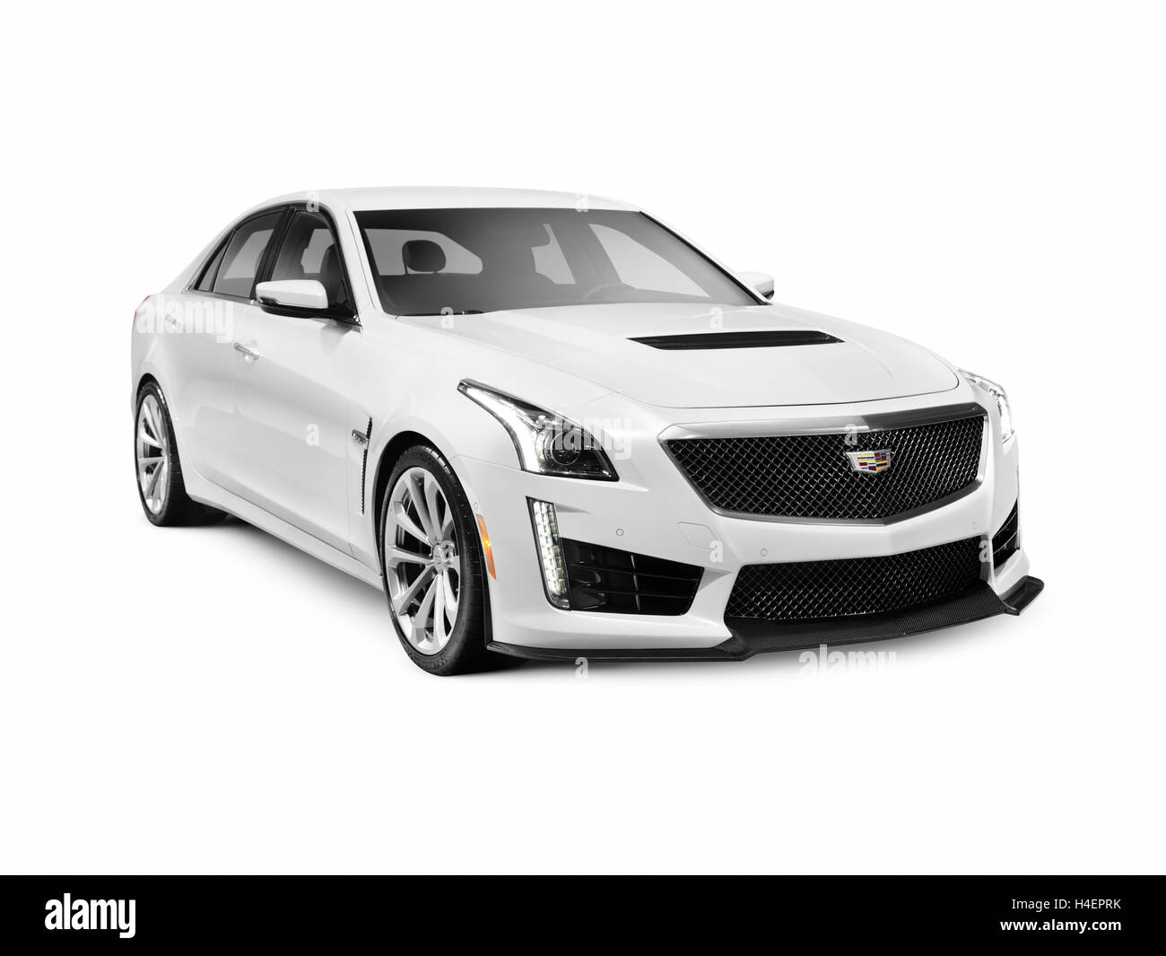 2016 Cadillac Cts V Sedan Luxury Sports Car Isolated On White Stock