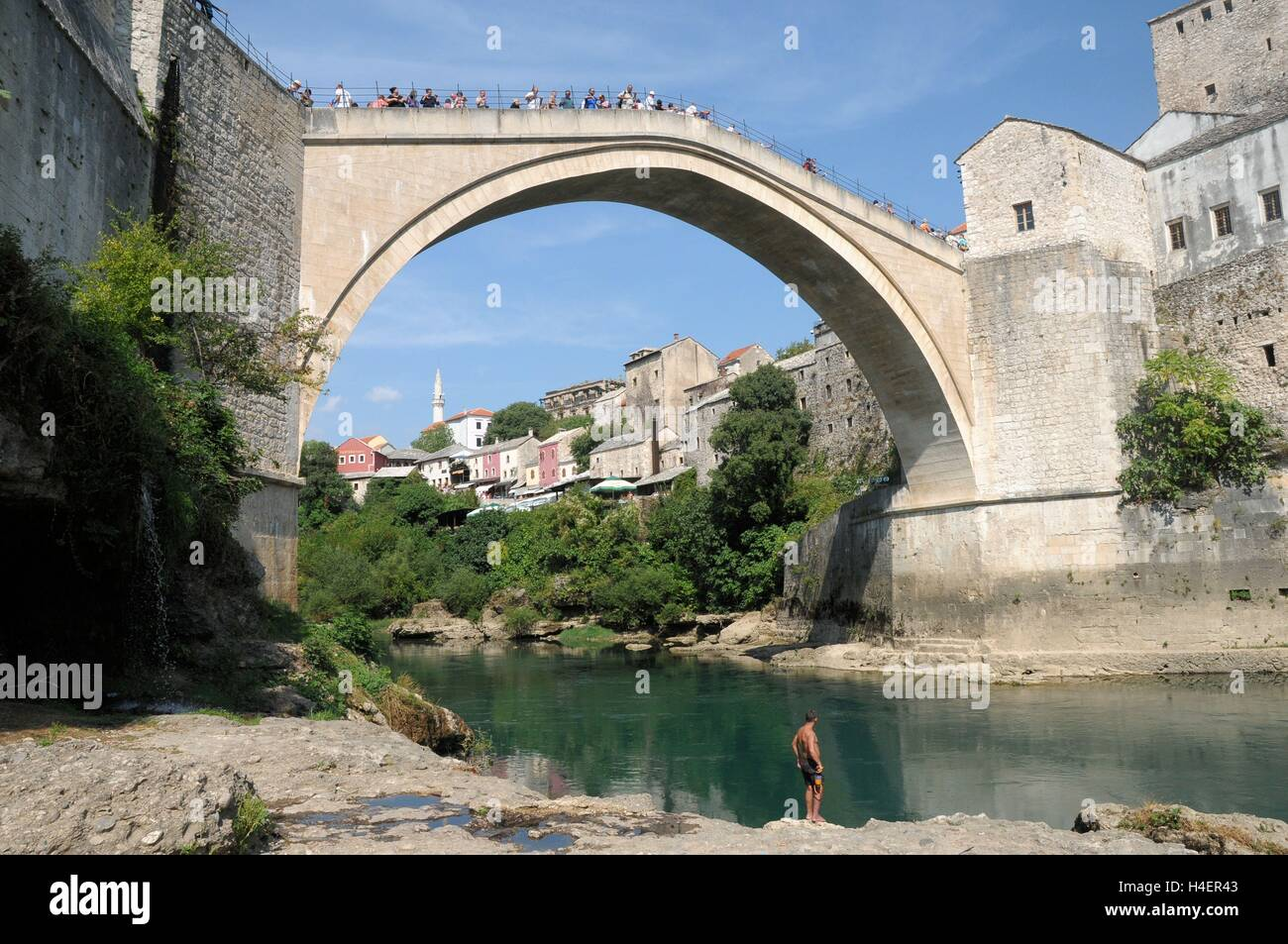 The Stari Most bridge, Bosnia Herzegovina - Stock Image