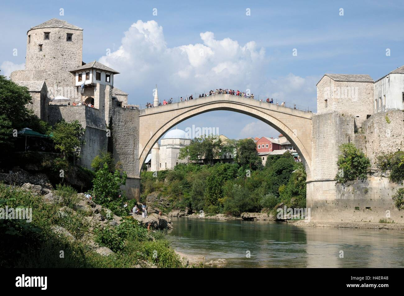 The Stari Most bridge, Mostar, Bosnia Herzegovina - Stock Image
