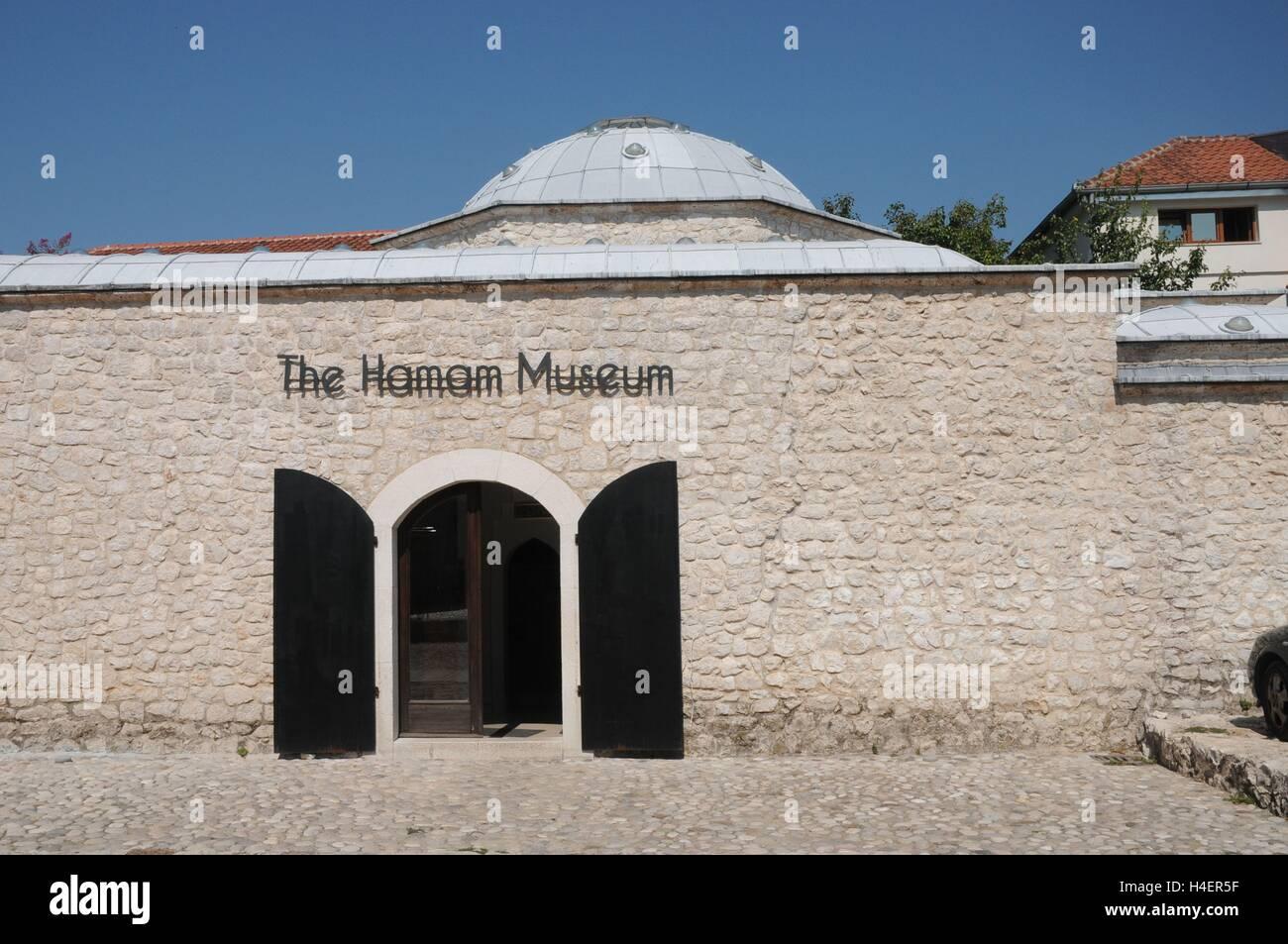 The Hamam Museum, Mostar, Bosnia Herzegovina - Stock Image