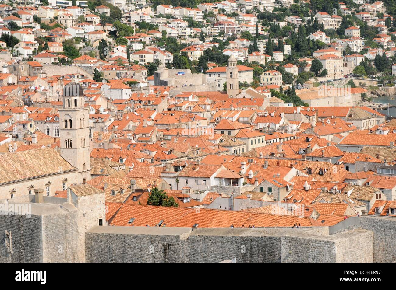 The rooftops of  the Old Town, Dubrovnik, Croatia. - Stock Image