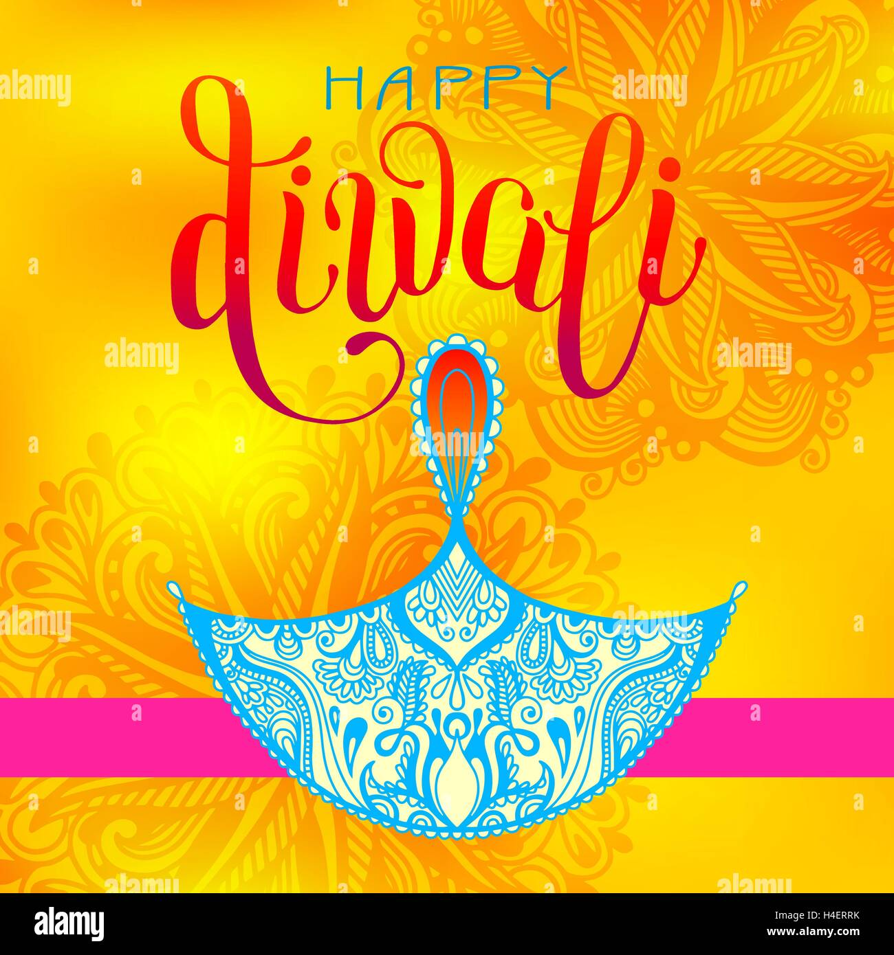 Happy diwali greeting card with hand written inscription to indi happy diwali greeting card with hand written inscription to indi m4hsunfo