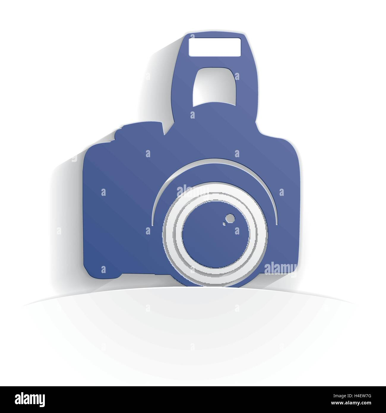 camera icon paper style full vector - Stock Vector