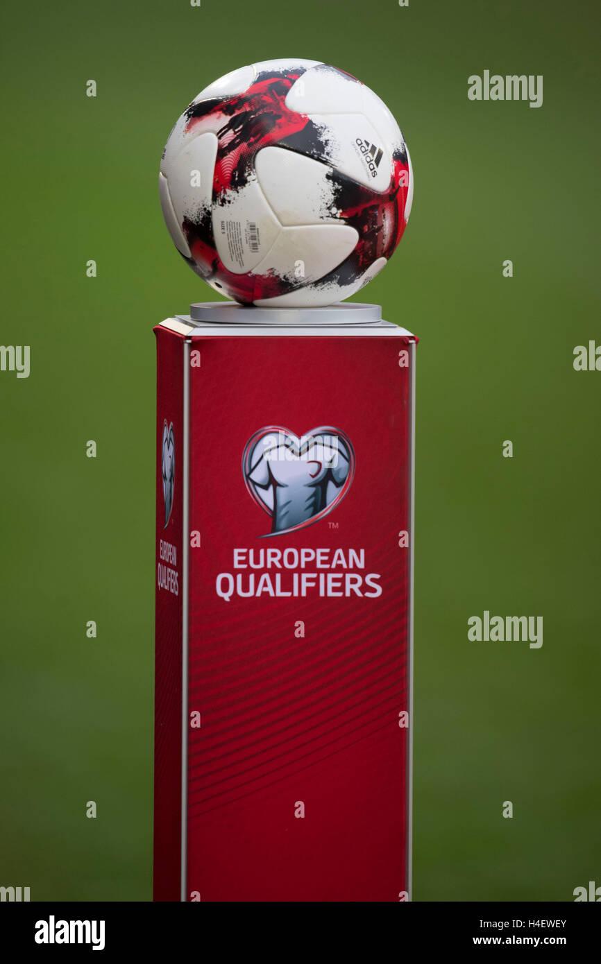 Fifa european qualifiers football brand logo. - Stock Image