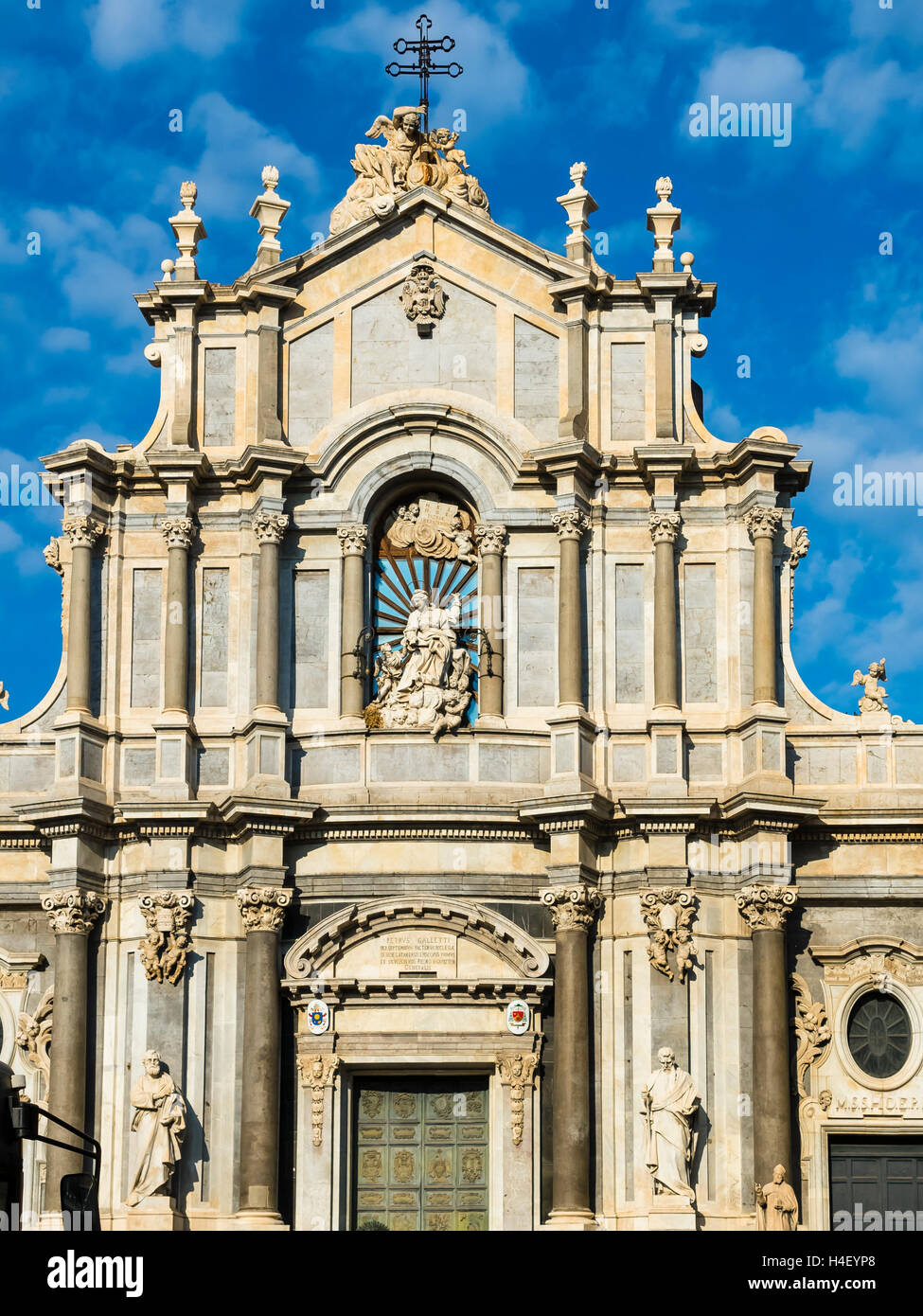 Cathedral of St. Agata, Piazza del Doumo, Province of Catania, Sicily, Italy - Stock Image