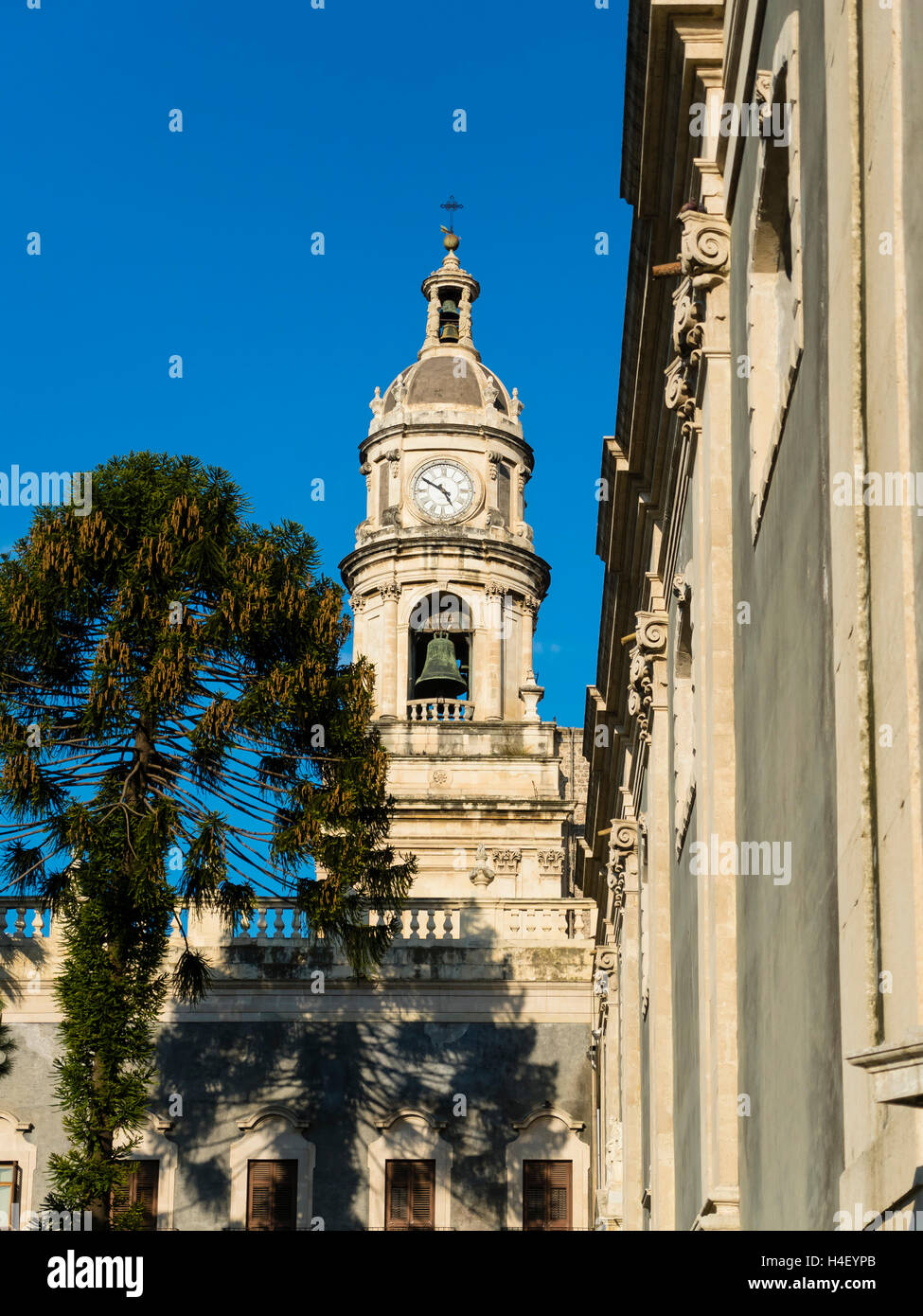 Cathedral of St. Agata, Piazza del Doumo, Province of Catania, Province of Catania, Sicily, Italy - Stock Image
