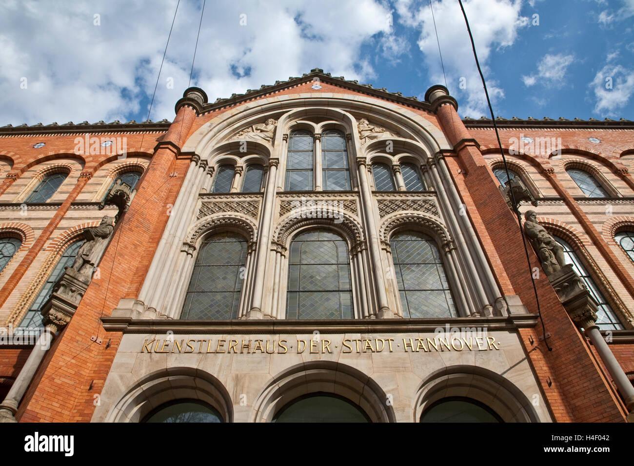 Facade, Kuenstlerhaus art building, Hannover, Lower Saxony - Stock Image
