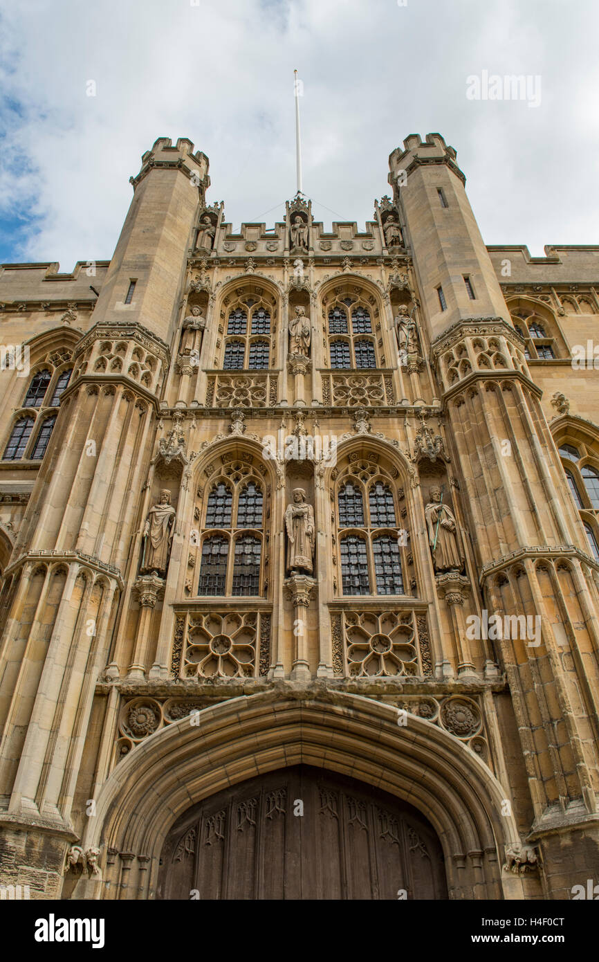 Entrance to Old Schools University Office, Cambridge, Cambridgeshire, England - Stock Image