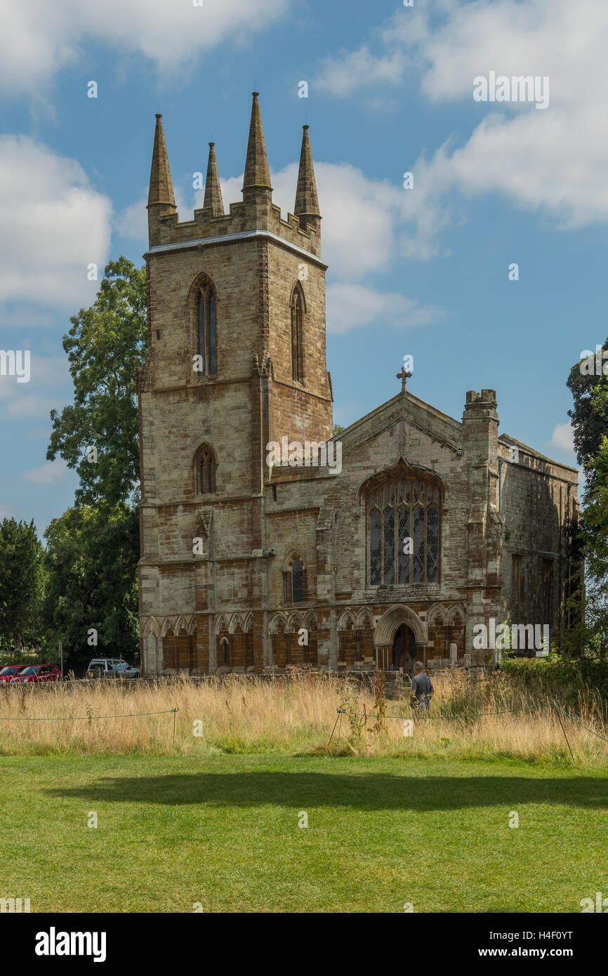 Priory Church, Canons Ashby, Daventry, Northamptonshire, England - Stock Image