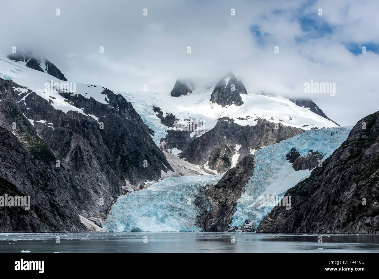 Glacier Kenai fjords, Alaska Stock Photo