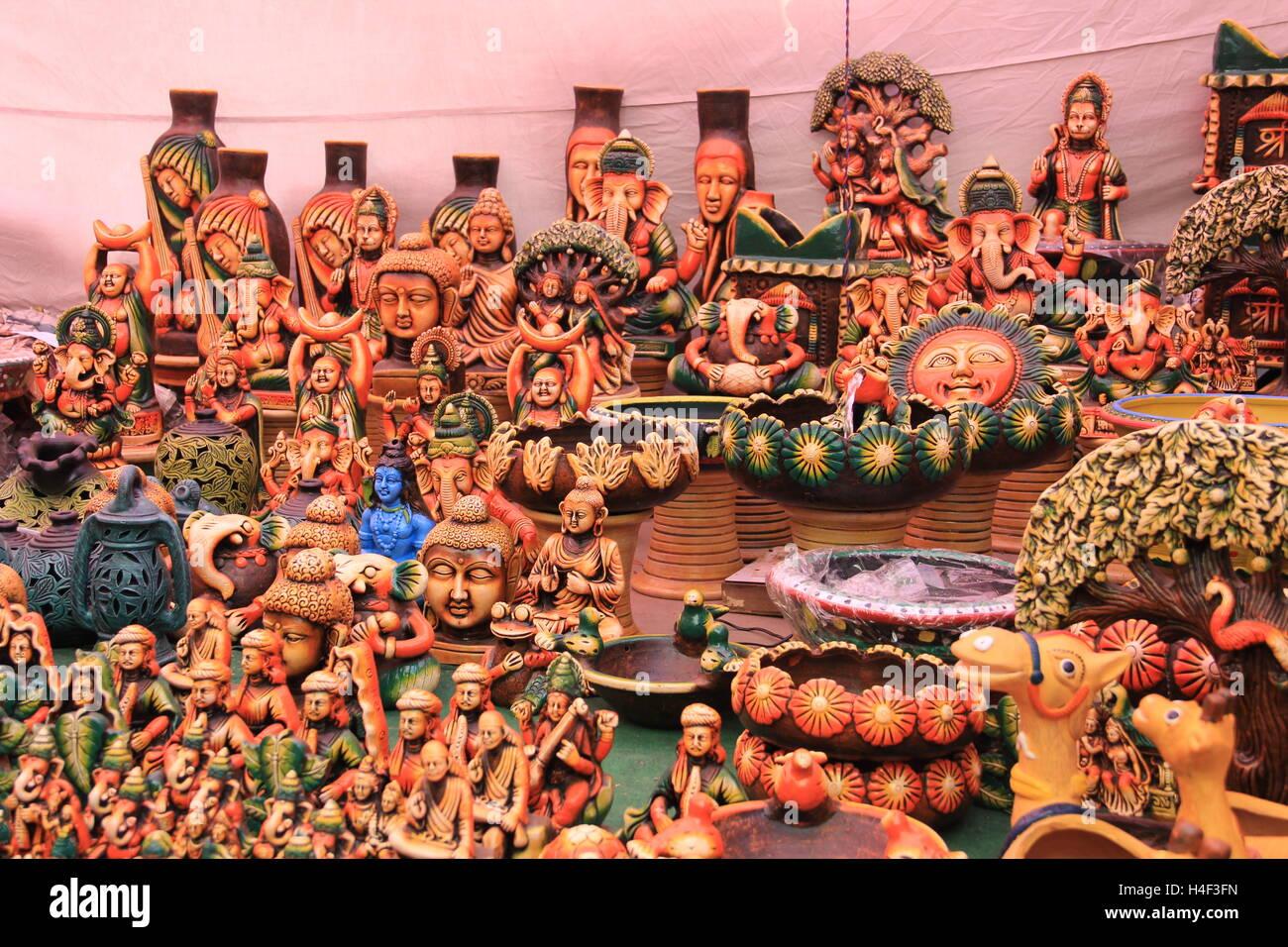 Earthen Dolls - Stock Image