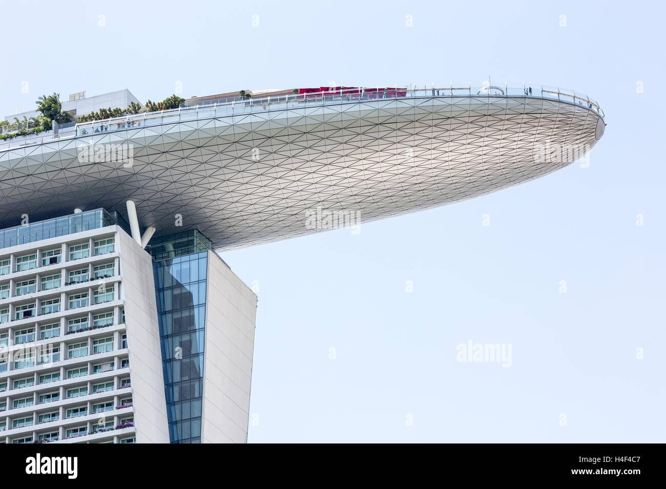 Marina Bay Sands hotel in Singapore - Stock Image