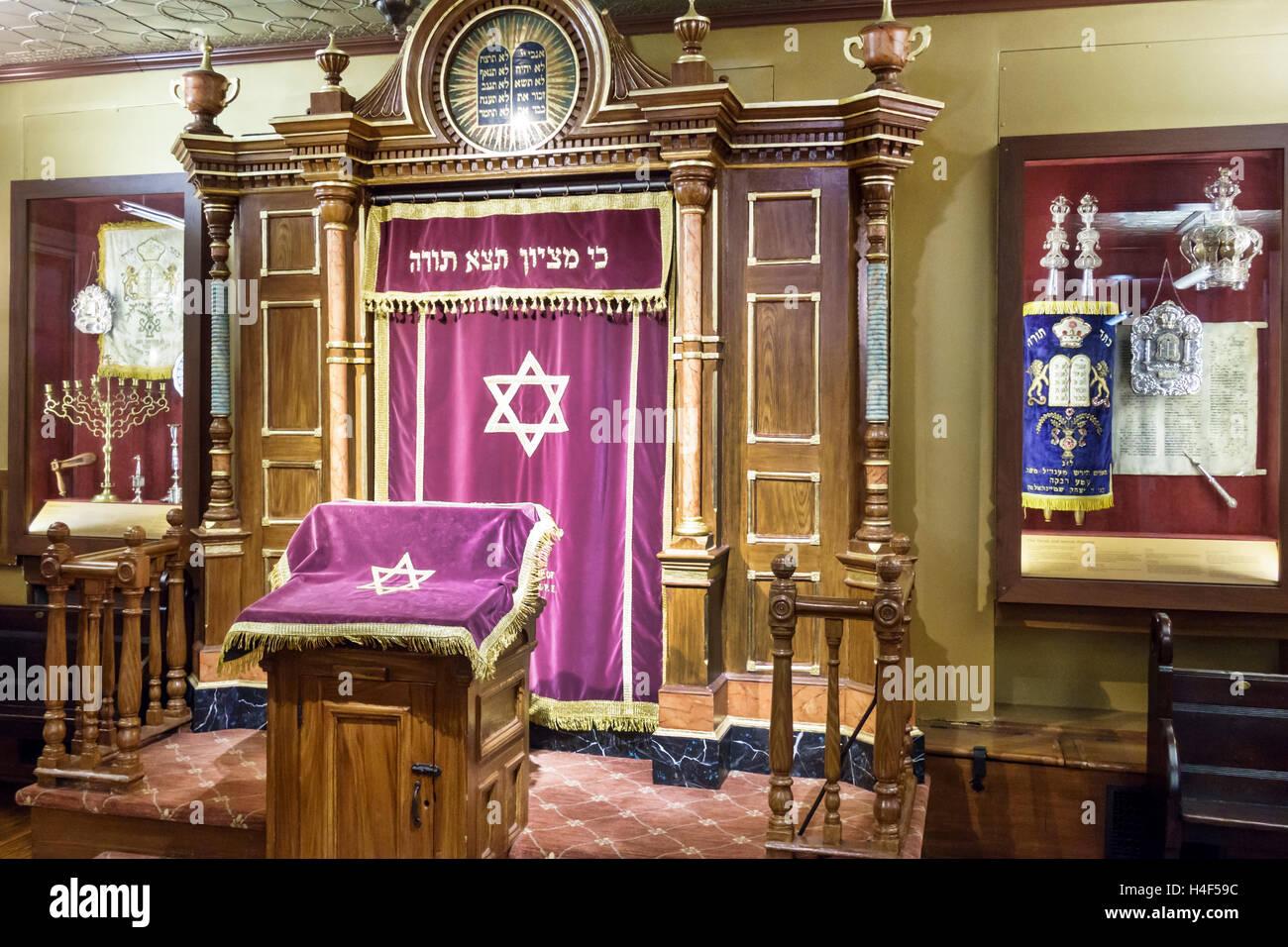 Lower Manhattan New York City NYC NY Chinatown Eldridge Street Synagogue Museum National Historic Landmark 1887 - Stock Image