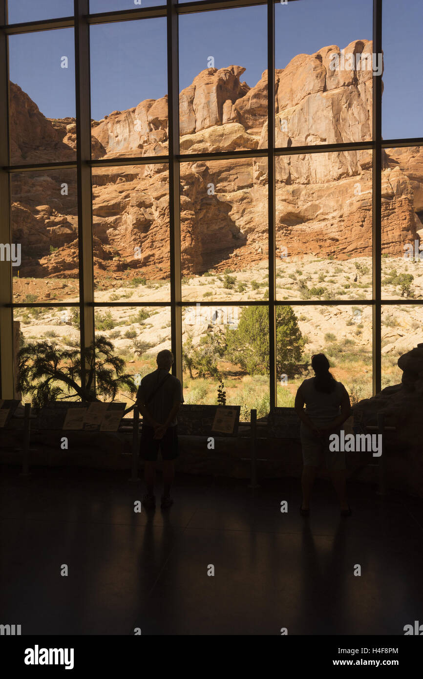 Utah, Arches National Park, Visitor Center - Stock Image