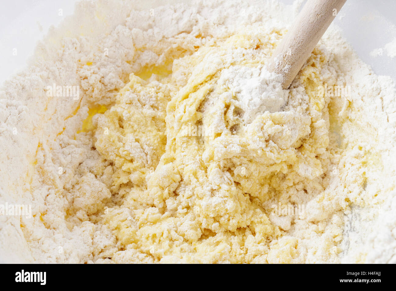 Steps of making cake. Cooking time Stock Photo