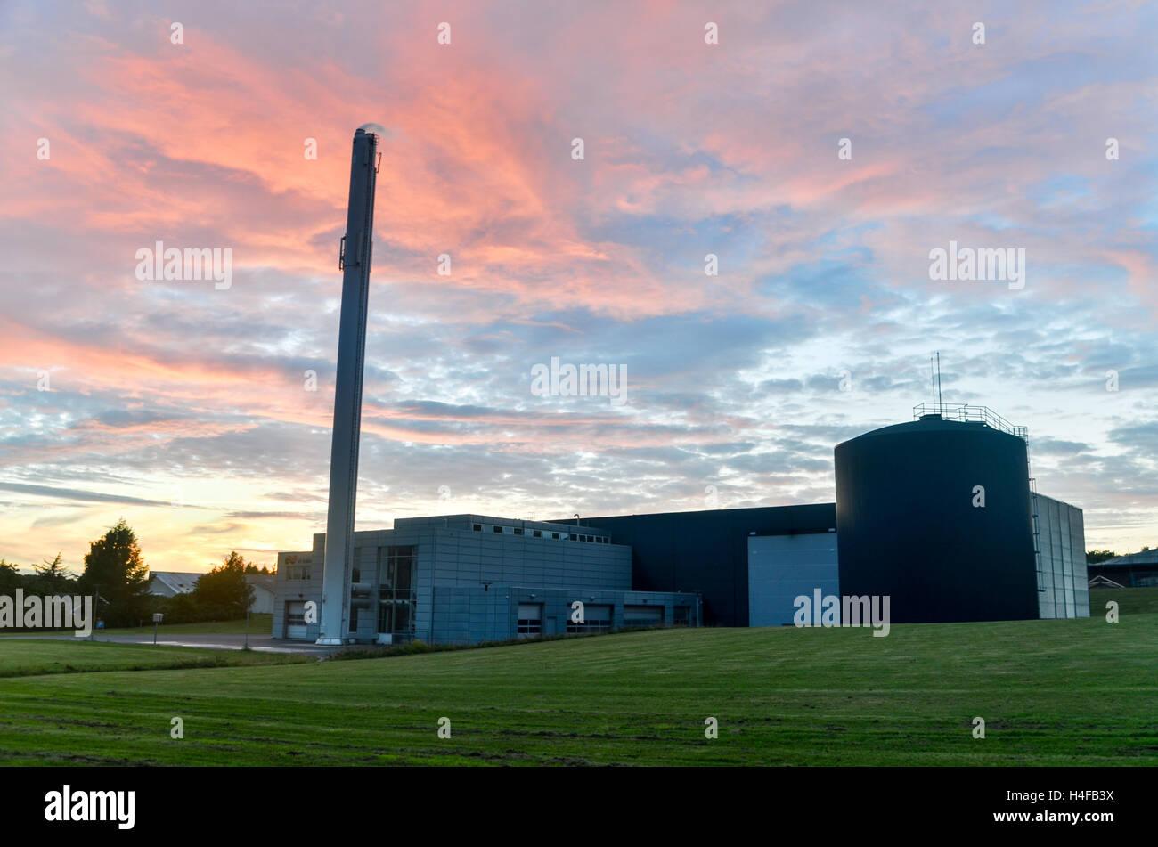Heat plant, Denmark - Stock Image
