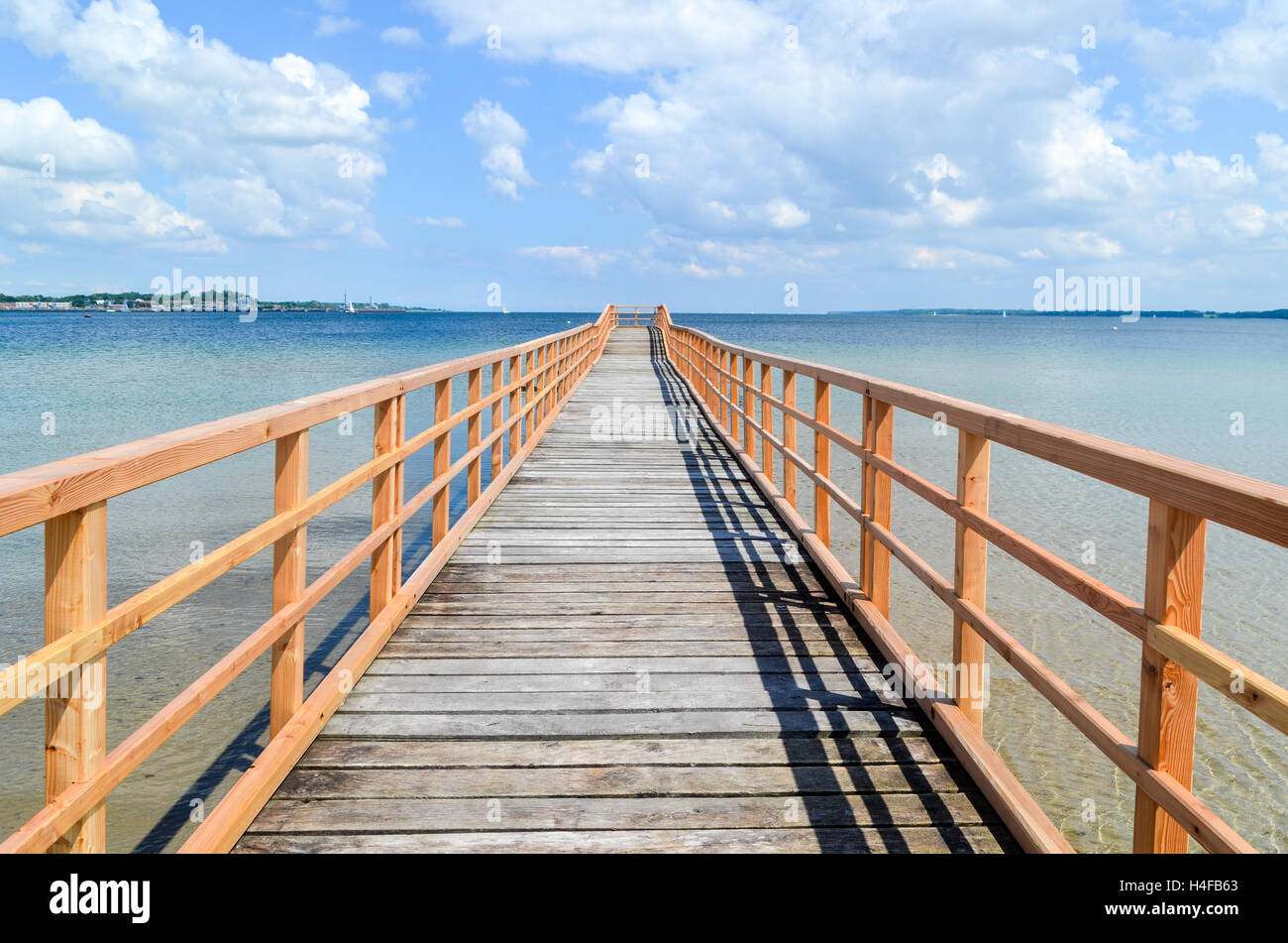 Pontoon to the Baltic Sea in northern Germany - Stock Image