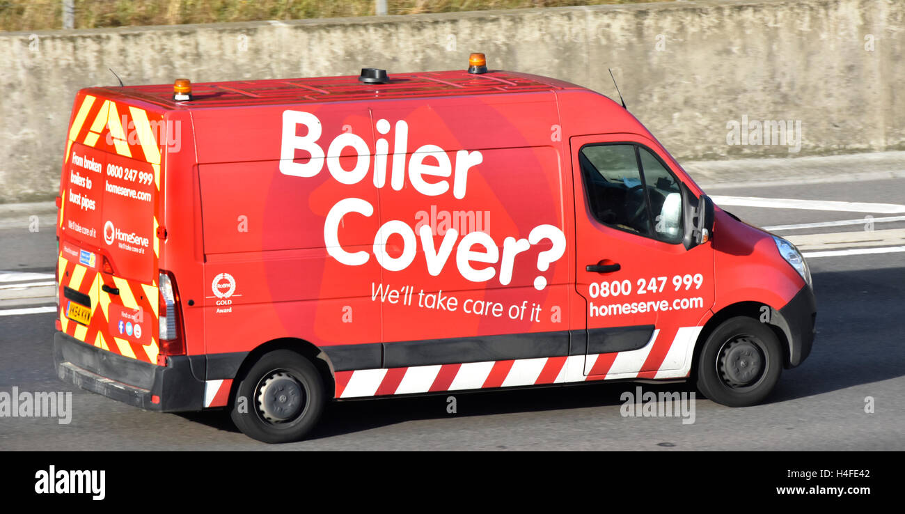 Boiler Cover van operated by Homeserve home assistance providers for domestic breakdowns repairs & maintenance services Stock Photo