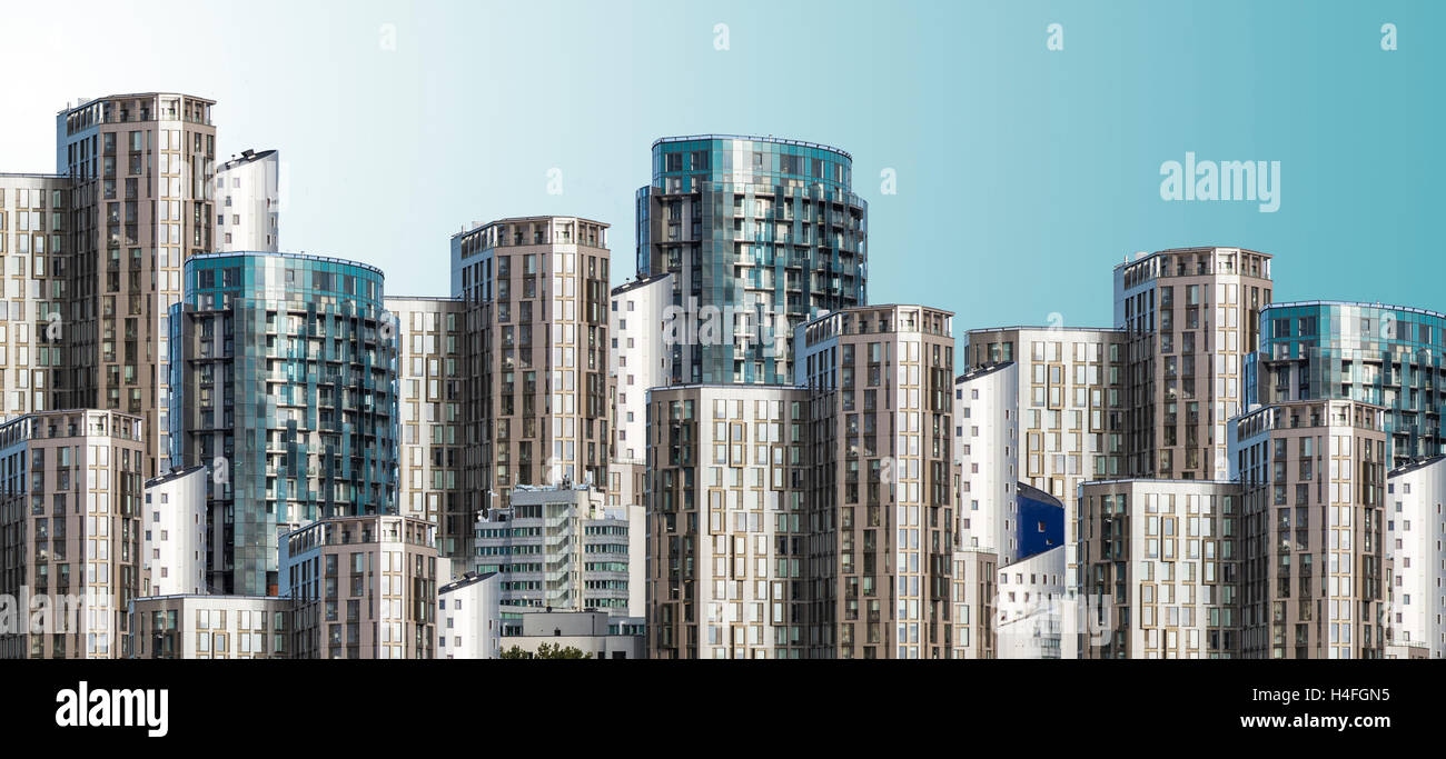 New Apartments part of the Wembley City development North West London UK - Stock Image