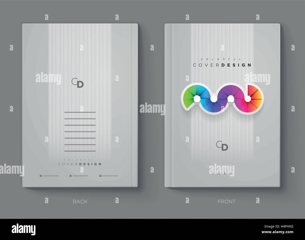 vector annual report brochure flyer or booklet cover design template modern corporation simple and colorful layout design