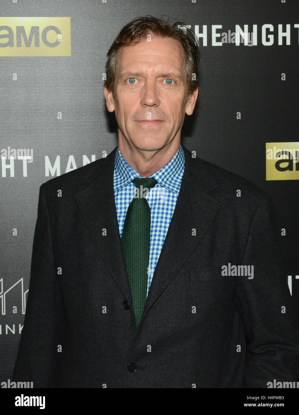 Hugh Laurie arrives for the Premiere Of AMC's 'The Night Manager' held at DGA Theater on April 5, 2016 - Stock Image