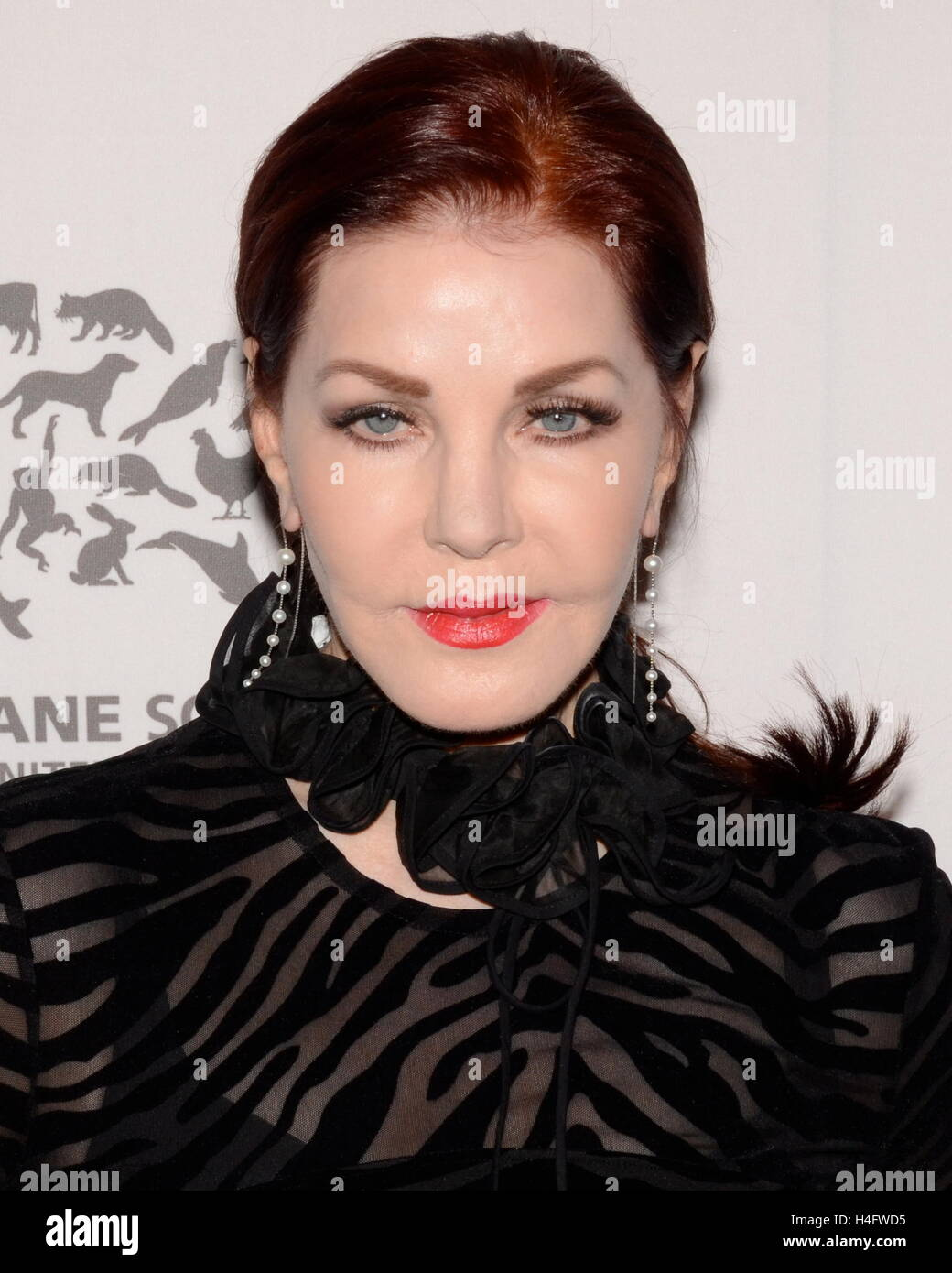 Priscilla Presley arrives at The Humane Society Of The United States' To The Rescue Gala at Paramount Studios - Stock Image