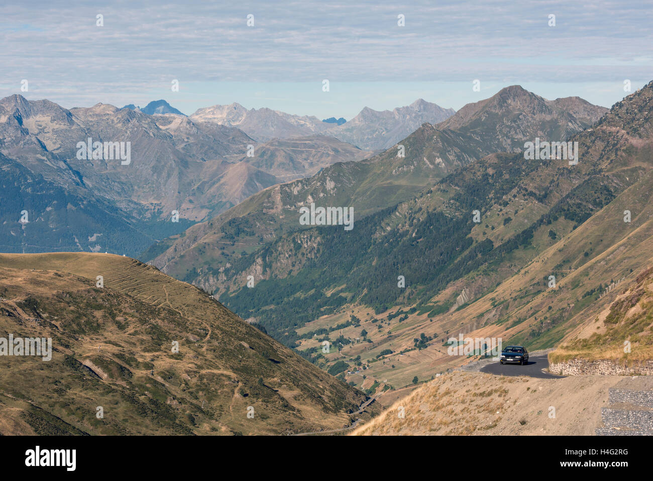 Col de Tourmalet in the  Hautes Pyrenees department of  France Stock Photo
