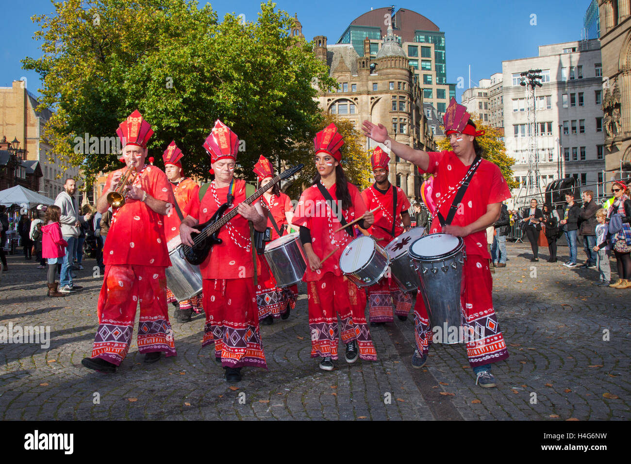 Manchester, UK.   15th October, 2016. The 11th annual Dashehra Diwali Mela held in Albert Square. This hugely popular - Stock Image